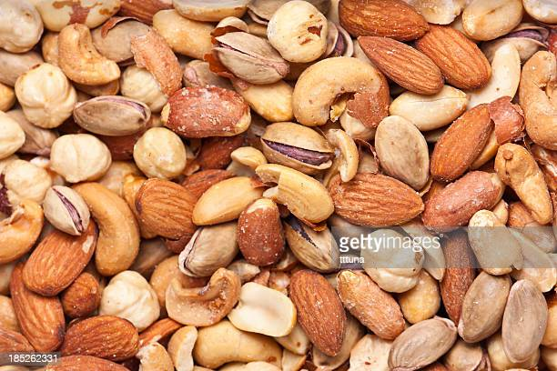 nuts, organic food and drink photo - salted stock pictures, royalty-free photos & images