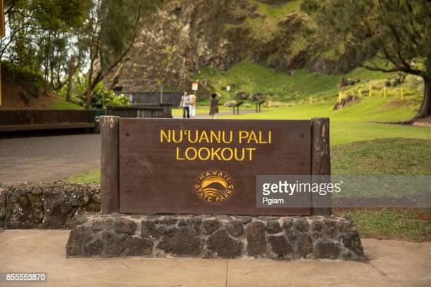 nuuanu pali lookout - lookout tower stock pictures, royalty-free photos & images