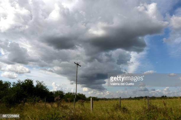 Nuvens chegando