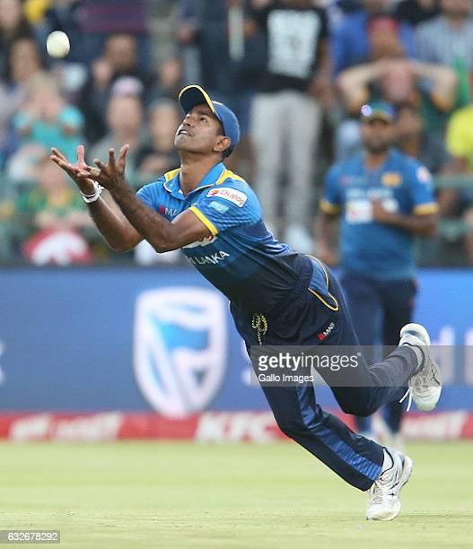 Nuwan Kulasekara of Sri Lanka during the 3rd KFC T20 International between South Africa and Sri Lanka at PPC Newlands on January 25 2017 in Cape Town...