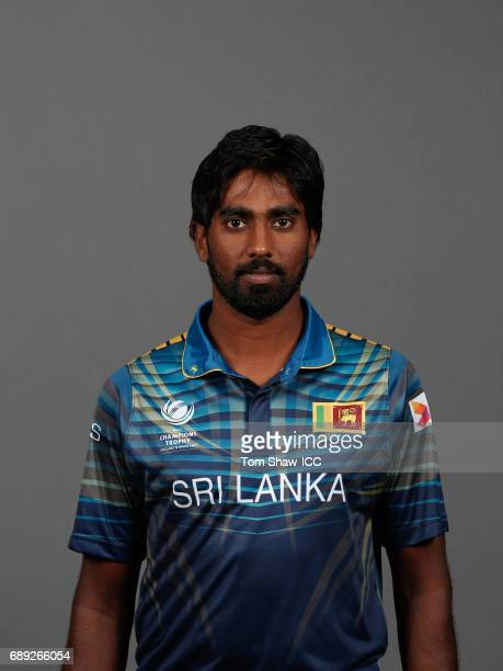 Nuwan Pradeep of Sri Lanka poses for a picture during the Sri Lanka Portrait Session for the ICC Champions Trophy at Grand Hyatt on May 27 2017 in...