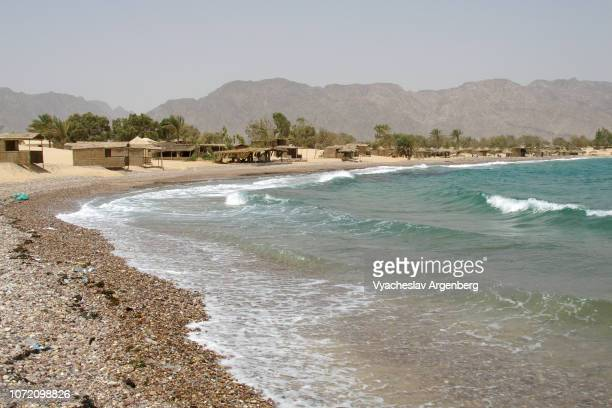 nuweiba beach, turquoise colors of red sea, sinai egypt - argenberg stock pictures, royalty-free photos & images