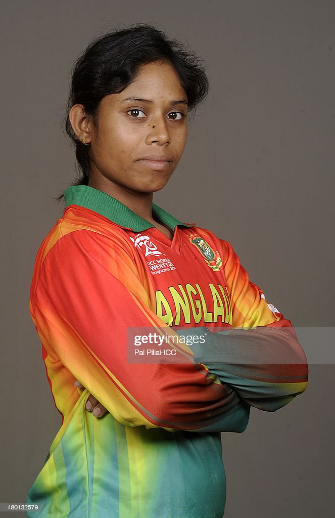 Nuzhat Tasnia of Bangladesh poses for a portrait during the women's headshot session before the start of the ICC Women's World T20 at the Sylhet...