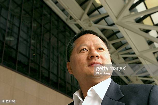 NVidia Corp. Chief executive Jen-Hsun Huang is pictured Wednesday, June 2, 2004 at the 2004 Computex Taipei 2004 computer trade show.