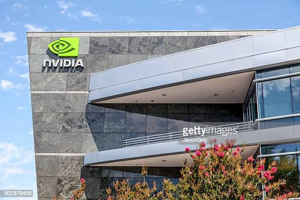nvidia world headquarters - nvidia corporation - fotografias e filmes do acervo