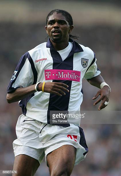 Nwankwo Kanu of West Brom during the Barclays Premiership game between West Bromwich Albion and Arsenal at The Hawthorns on October 15, 2005 in...