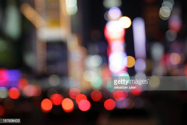ny times square - defocused light dots multi colored