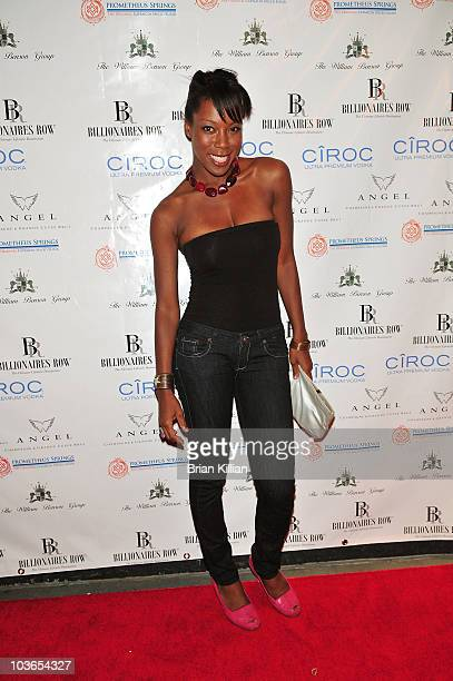 Nya Bowman attends William Benson's birthday celebration at the Carlton Hotel on August 26 2010 in New York City