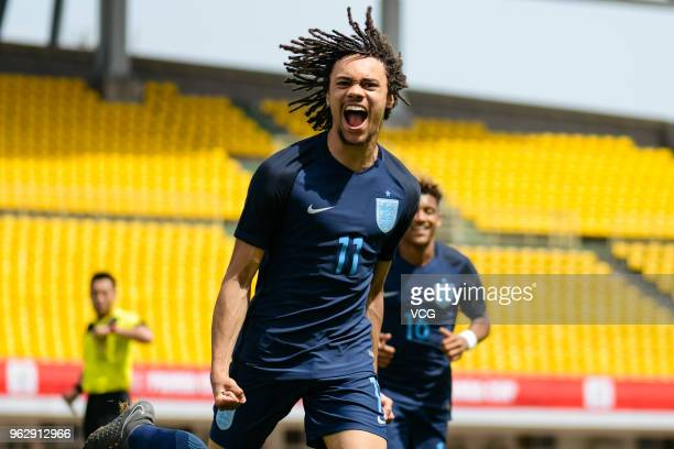 Nya Kirby of England celebrates during the 2018 Panda Cup International Youth Football Tournament between Hungary U19 National Team and England U19...