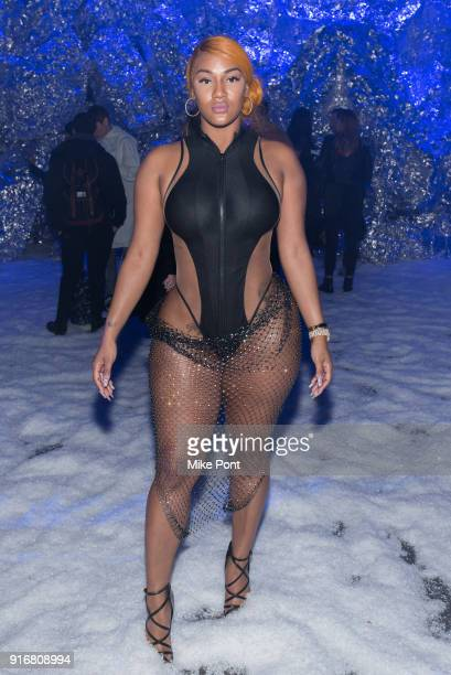 Nya Lee attends the Philipp Plein fashion show during New York Fashion Week The Shows on February 10 2018 in New York City