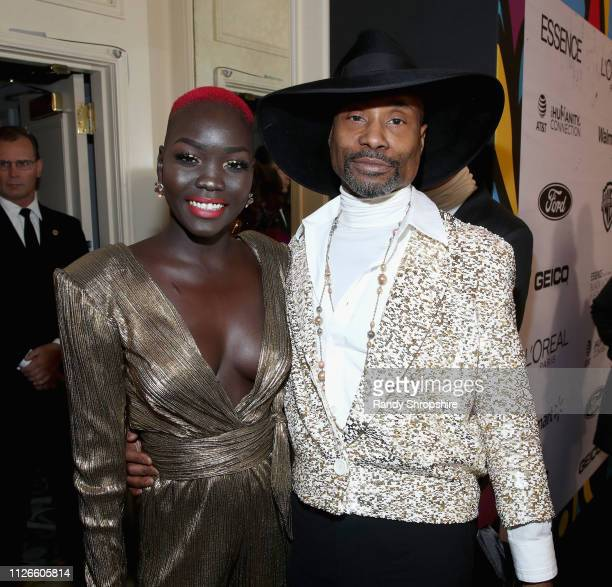 Nyakim Gatwech and Billy Porter attend the 2019 Essence Black Women in Hollywood Awards Luncheon at Regent Beverly Wilshire Hotel on February 21 2019...