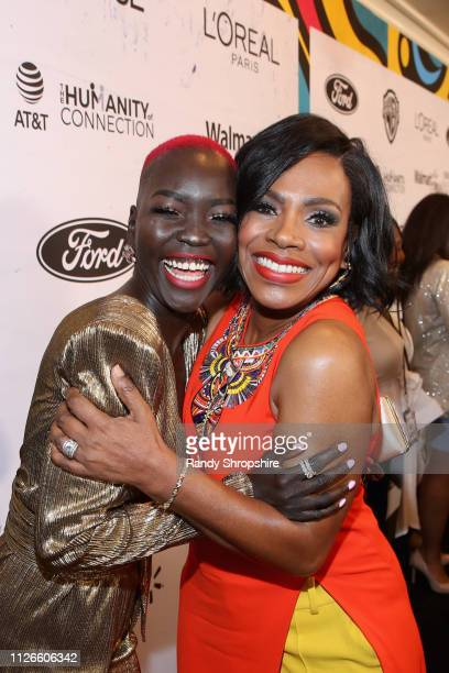 Nyakim Gatwech and Sheryl Lee Ralph attend the 2019 Essence Black Women in Hollywood Awards Luncheon at Regent Beverly Wilshire Hotel on February 21...