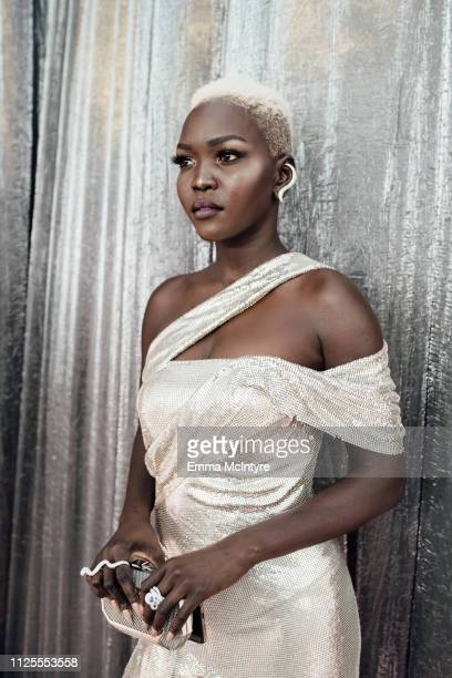 Nyakim Gatwech arrives at the 25th annual Screen Actors Guild Awards at The Shrine Auditorium on January 27, 2019 in Los Angeles, California.