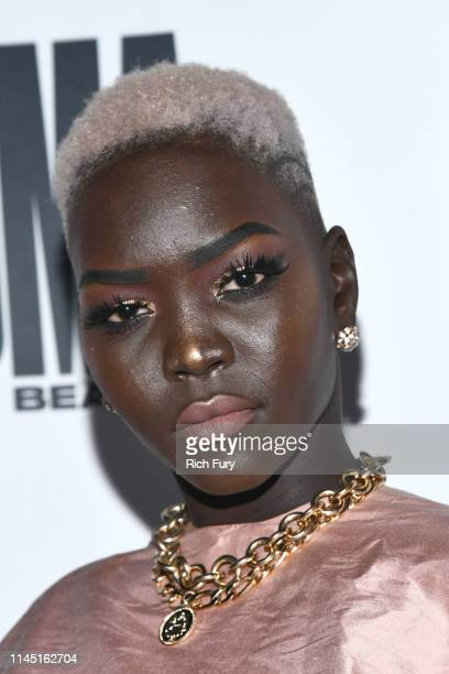 "Nyakim Gatwech at House Of Uoma Presents The Launch Of Uoma Beauty - The World's First ""Afropolitan"" Makeup Brand at NeueHouse Hollywood on April 25,..."