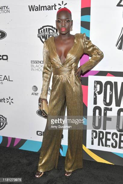 Nyakim Gatwech attends 2019 Essence Black Women In Hollywood Awards at the Beverly Wilshire Four Seasons Hotel on February 21, 2019 in Beverly Hills,...