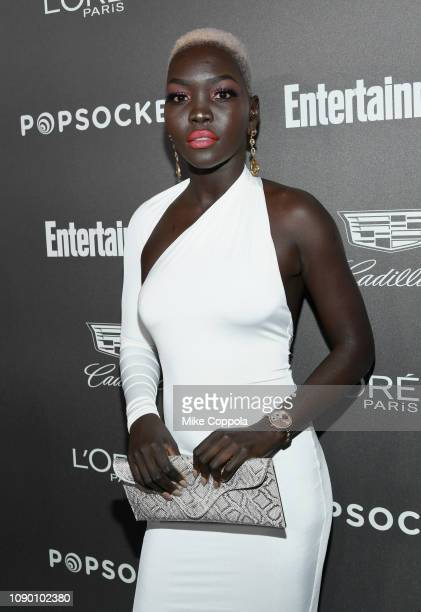 Nyakim Gatwech attends Entertainment Weekly Celebrates Screen Actors Guild Award Nominees sponsored by L'Oreal Paris Cadillac And PopSockets at...