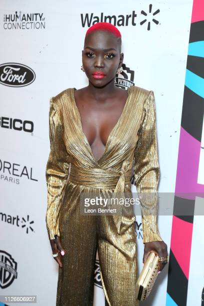 Nyakim Gatwech attends the 2019 Essence Black Women in Hollywood Awards Luncheon at Regent Beverly Wilshire Hotel on February 21 2019 in Los Angeles...