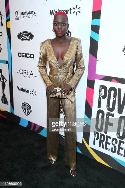 Nyakim Gatwech attends the 2019 Essence Black Women in Hollywood Awards Luncheon at Regent Beverly Wilshire Hotel on February 21, 2019 in Los...