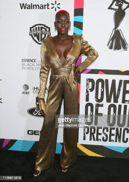 Nyakim Gatwech attends the 2019 Essence Black Women in Hollywood Awards on February 21 2019 in Los Angeles California