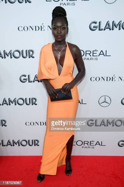 Nyakim Gatwech attends the 2019 Glamour Women Of The Year Awards at Alice Tully Hall on November 11, 2019 in New York City.