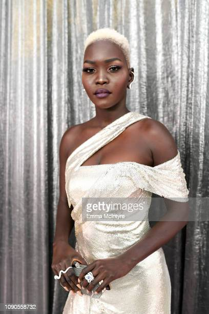 Nyakim Gatwech attends the 25th Annual Screen Actors Guild Awards at The Shrine Auditorium on January 27, 2019 in Los Angeles, California. 480518