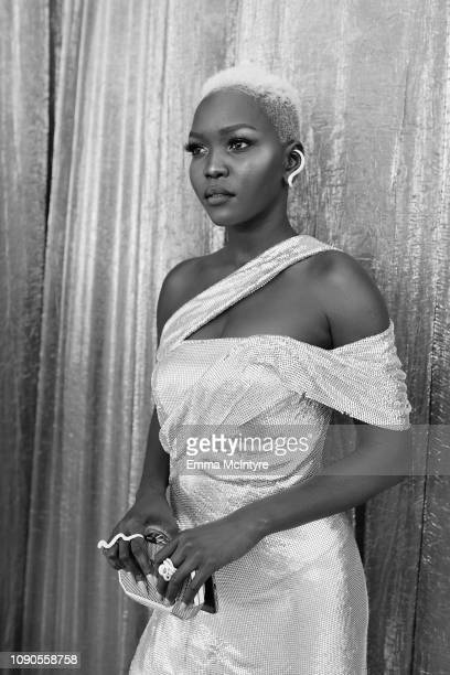 Nyakim Gatwech attends the 25th Annual Screen Actors Guild Awards at The Shrine Auditorium on January 27 2019 in Los Angeles California 480518