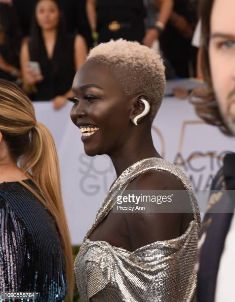 Nyakim Gatwech attends the 25th Annual Screen Actors Guild Awards at The Shrine Auditorium on January 27 2019 in Los Angeles California