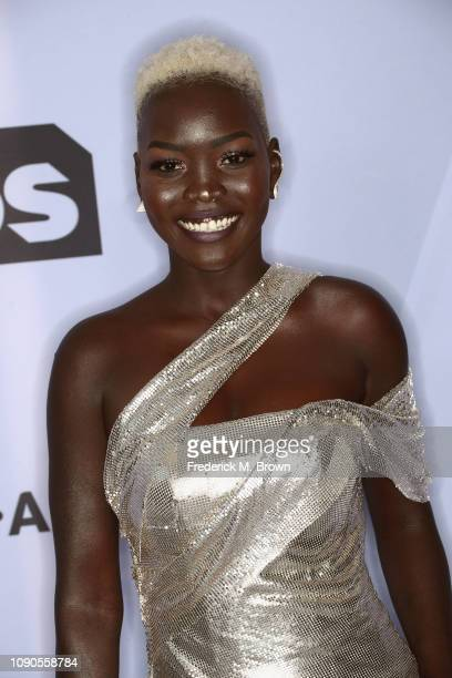 Nyakim Gatwech attends the 25th Annual Screen Actors Guild Awards at The Shrine Auditorium on January 27, 2019 in Los Angeles, California. 480695