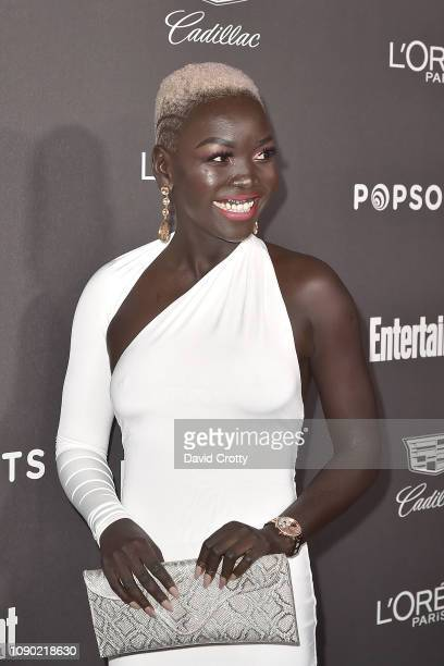Nyakim Gatwech attends the Entertainment Weekly Pre-SAG Party Arrivals at Chateau Marmont on January 26, 2019 in Los Angeles, California.