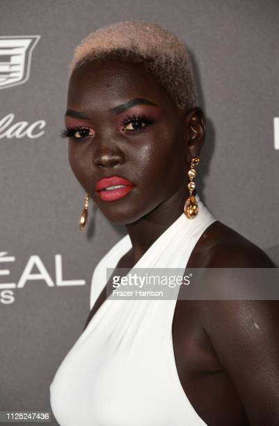 Nyakim Gatwech attends the Entertainment Weekly PreSAG Party at Chateau Marmont on January 26 2019 in Los Angeles California
