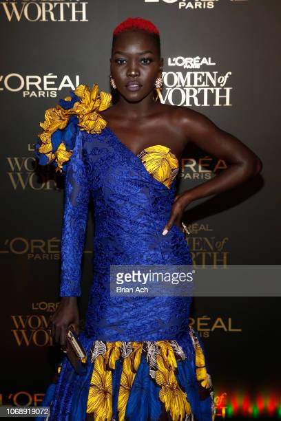 Nyakim Gatwech attends the L'Oréal Paris Women of Worth Celebration at The Pierre Hotel on December 5 2018 in New York City
