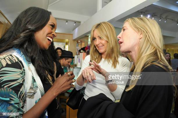 Nyakio Kamoche Grieco Laurie Feltheimer and Kelly Styne attend Ali Larter Shannon Rotenberg Host Nyakio Launch Event At RONROBINSON at Fred Segal...