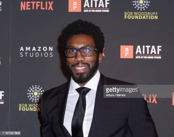 Nyambi Nyambi attends Arts in the Armed Forces 11th Annual Broadway Event for the staged reading of A Raisin in the Sun at American Airlines Theatre...