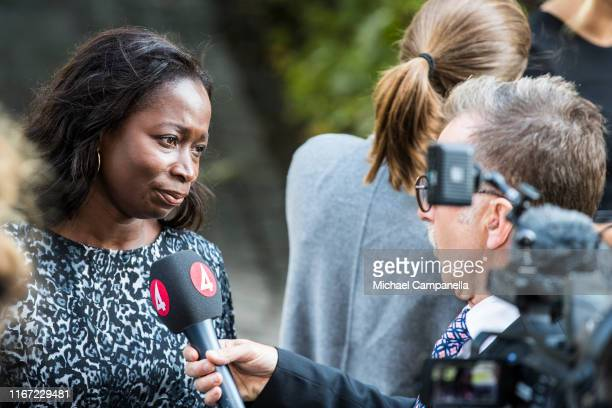 Nyamko Sabuni, leader of the Swedish Liberal party, arrives at the Swedish Parliament House for the opening of the new parliamentary session on...