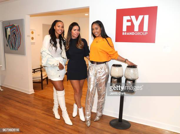 Nyanda Donaldson FYI Brand Group Founder Tammy Brook and Gabrielle Foucher attend the 'For Your Information' PopUp Art Show hosted by FYI Brand Group...
