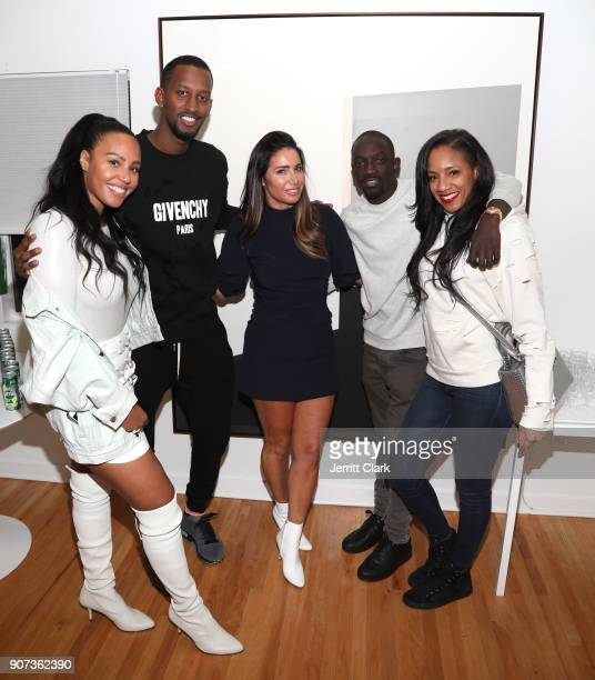 Nyanda Donaldson Ivan Kagame FYI Brand Group Founder Tammy Brook Abou 'Bu' Thiam and guest attend the 'For Your Information' PopUp Art Show hosted by...
