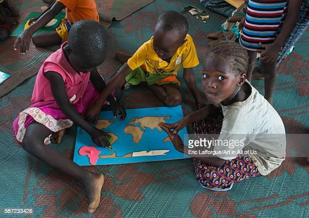 Nyangatom and toposa tribe children at school omo valley kangate Ethiopia on March 15 2016 in Kangate Ethiopia