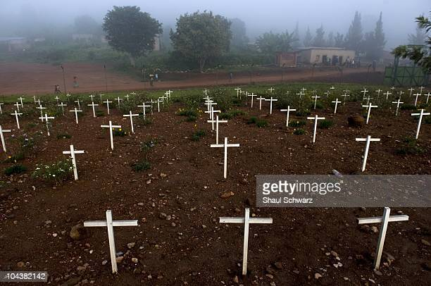 Nyanza Memorial Site April 18 2008 in Murambi Rwanda At the start of the genocide in April 1994 over 2000 Tutsis took refuge in the ETO school on the...