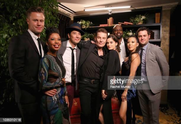Nyasha Hatendi Angel Parker James Yaegashi James Marsters Patricia Rahman Ryan Sands and Brittany Ishibashi attend Hulu's 2018 Emmy Party at Nomad...