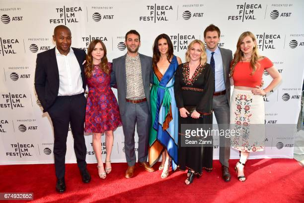Nyasha Hatendi Tara Lynne Barr Zander Lehmann Michaela Watkins Liz Tigelaar Tommy Dewey and Helen Estabrook attend the 'Casual' Premiere during the...