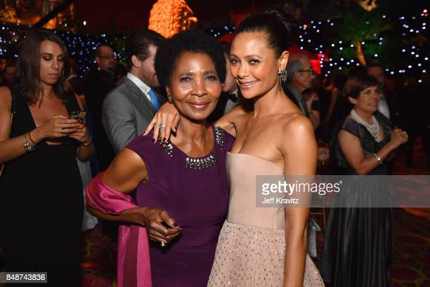 Nyasha Newton and Thandie Newton attends the HBO's Official 2017 Emmy After Party at The Plaza at the Pacific Design Center on September 17 2017 in...