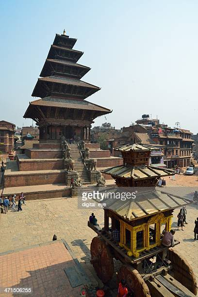 nyatapola 寺院に、ネパール bhakapur - バクタプル ストックフォトと画像