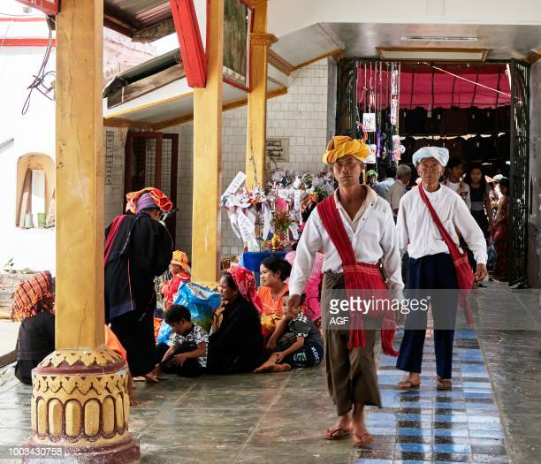 Nyaungshwe city. Inle lake Shan state. Myanmar . Asia. Paoh people. Ethnic Minority. Inside the adana Man Aung Pagoda is situated in Nyaung Shwe....