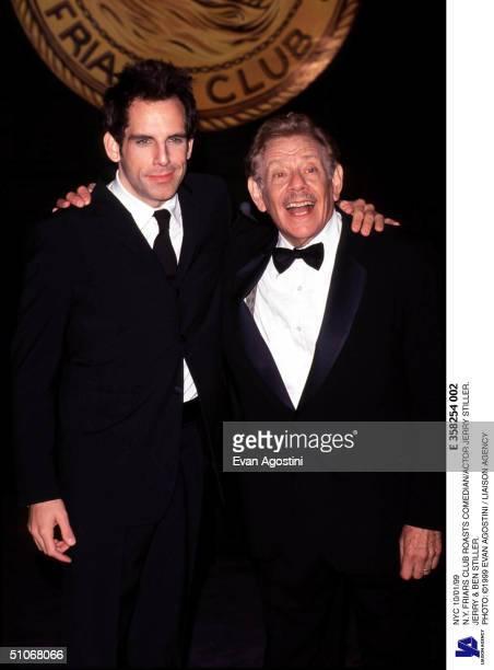 Nyc 10/01/99 N.Y. Friars Club Roasts Comedian/Actor Jerry Stiller. Jerry & Ben Stiller.