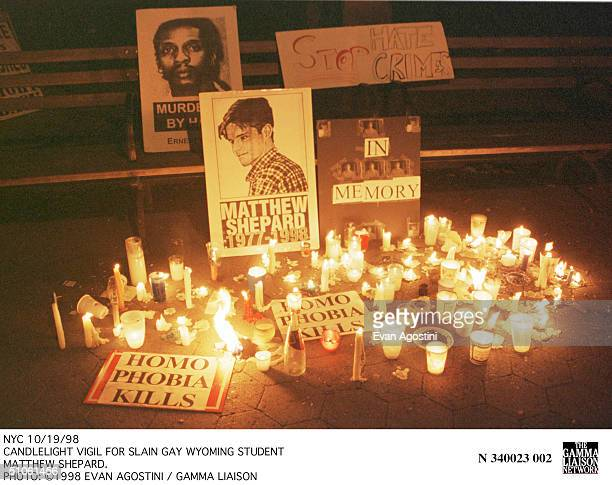 Nyc 10/19/98 Candlelight Vigil For Slain Gay Wyoming Student Matthew Shepard