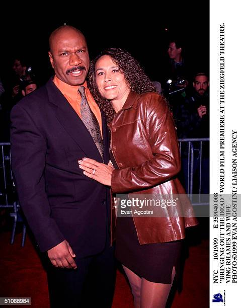 Nyc 10/19/99 E 359040 008 Bringing Out The Dead World Film Premiere At The Ziegfeld Theatre Ving Rhames And Wife