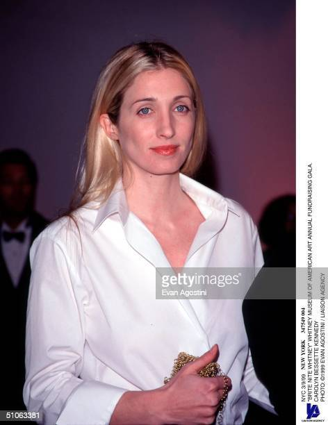 """Nyc 3/9/99 """"Brite Nite Whitney"""" Whitney Museum Of American Art Annual Fundraising Gala. Carolyn Bessette Kennedy"""