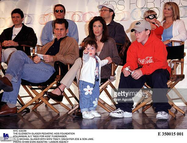 Nyc 4/25/99 The Elizabeth Glaser Pediatric Aids Foundation 6Th Annual NY Kids For Kids Fundraiser Paul Michael Glaser With Wife Tracy Daughter Zoe...