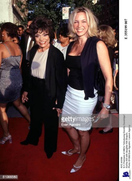 Nyc 8/3/99 NY Premiere Of Hbo's Introducing Dorothy Dandridge Eartha Kitt With Daughter Kitt Shapiro