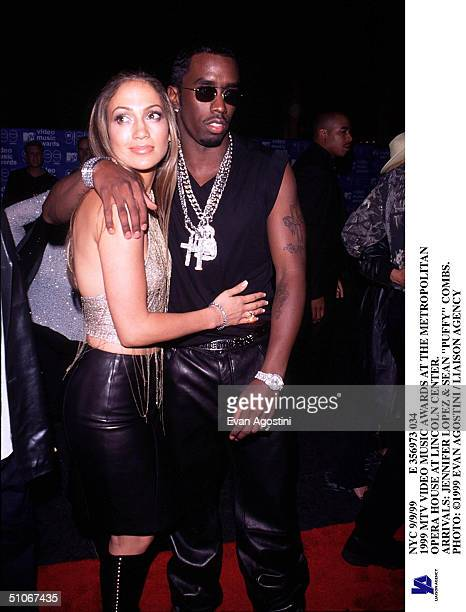 Nyc 9/9/99 E 356973 034 1999 MTV Video Music Awards At The Metropolitan Opera House At Lincoln Center Arrivals Jennifer Lopez Sean Puffy Combs
